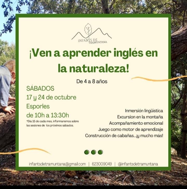 ¡Ven a aprender inglés en la naturaleza!