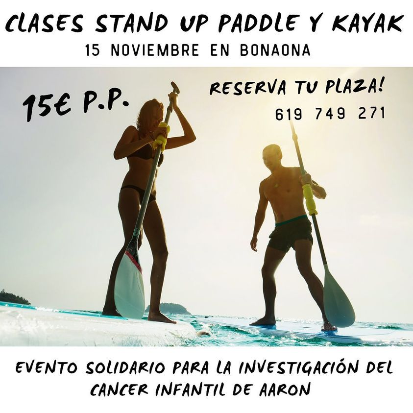 Clases de Stand up paddle y Kayak