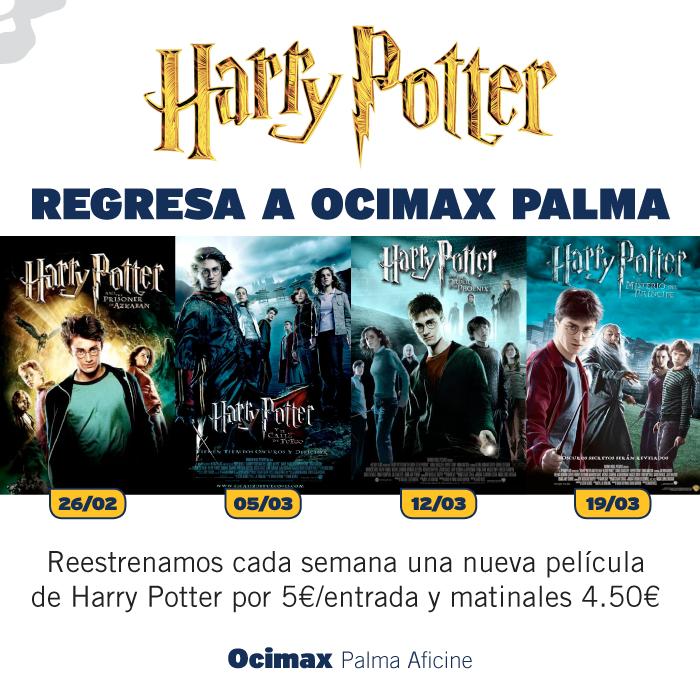 Reestreno de la saga Harry Potter