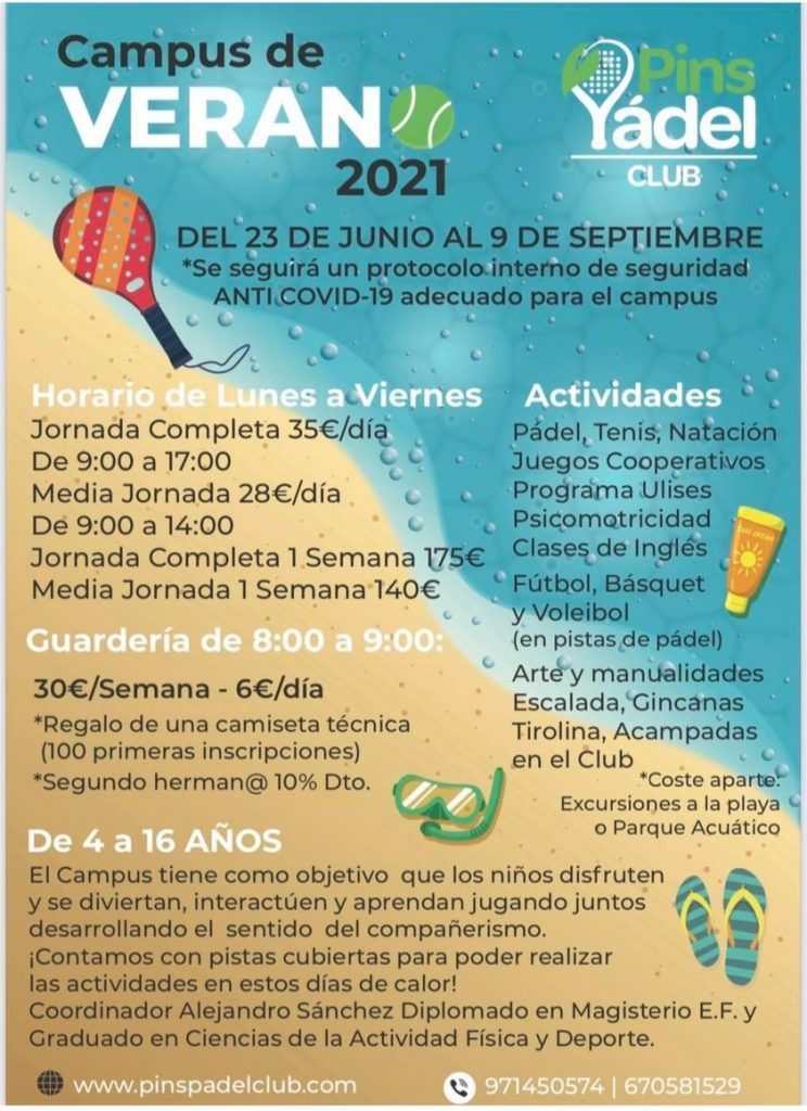 Campus de verano - Pins Pádel Club